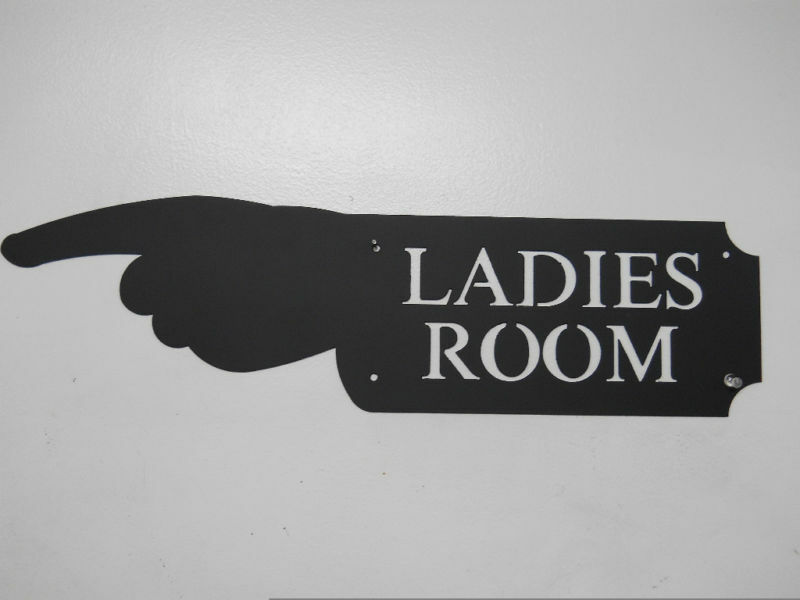 Ladies Room Hand Sign Game Room Woman Restroom Bath Ebay