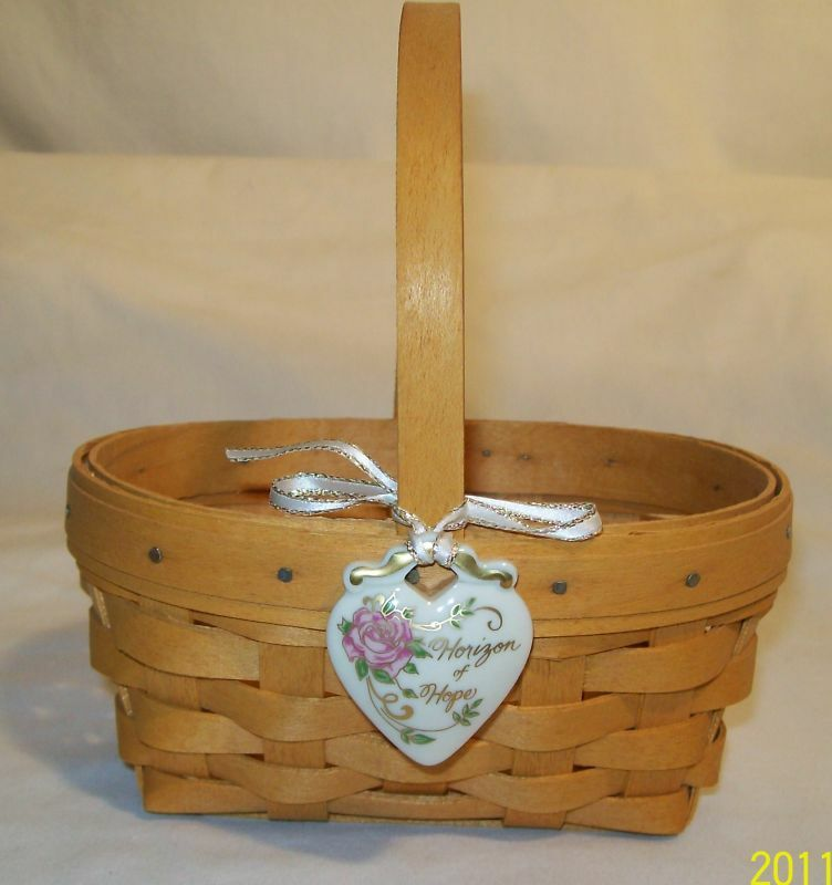 Estate Sale Longaberger Horizon Hope Of Basket 14150 Ebay