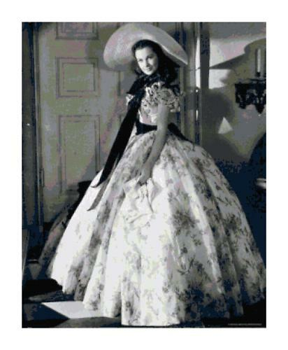 vivien leigh in with the wind cross stitch pattern ebay