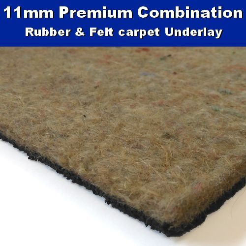Premium Felt Rubber Combination 11mm Carpet Underlay Ebay