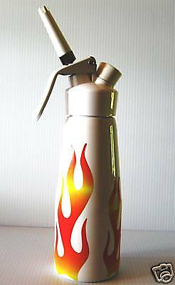 Quot Sexy White Quot Whipped Cream Dispenser With Flames Ebay