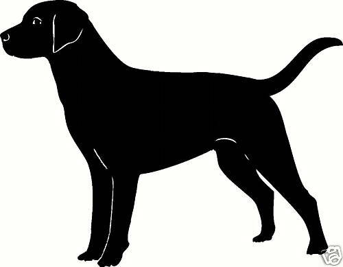 LAB LABRADOR Dog Outline Silhouette Decal Sticker | eBay
