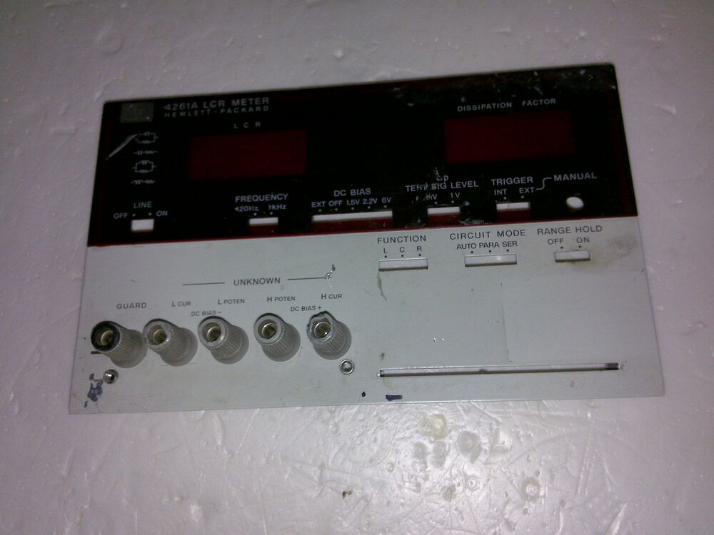 Hp Lcr Meter : Front panel for hp a lcr meter ebay