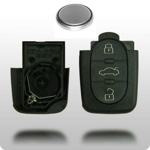 audi a2 a3 a4 a6 3 button remote key fob case battery ebay. Black Bedroom Furniture Sets. Home Design Ideas