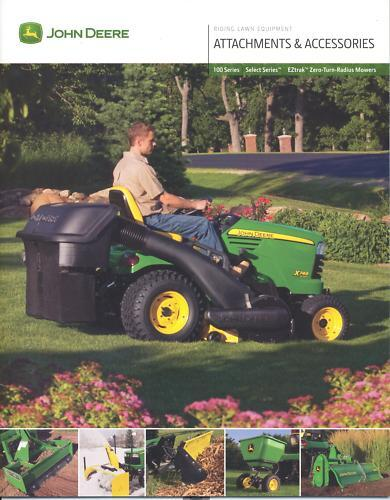 John Deere Gator Accessories >> John Deere Attachments & Accessories Sales Brochure NEW | eBay