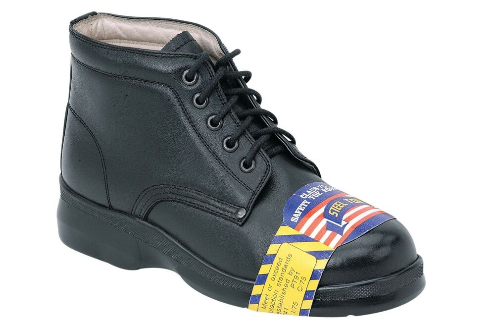 Lastest Womens Amblers Leather Safety Work Boots Black Ankle Steel Toe Shoe - New Arrivals