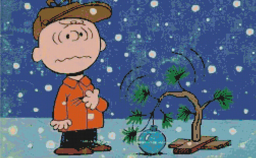 Peanuts Charlie Brown Christmas Cross-Stitch Pattern