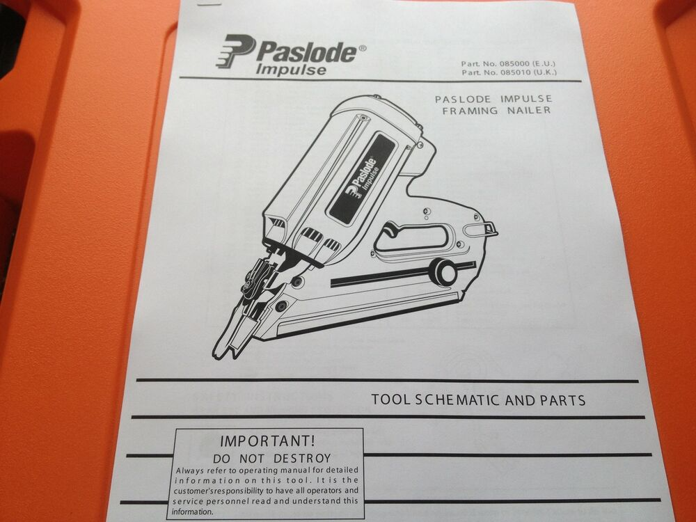 PASLODE IM350 TOOL PARTS DIAGRAM CHECK MY EBAY SHOP | eBay