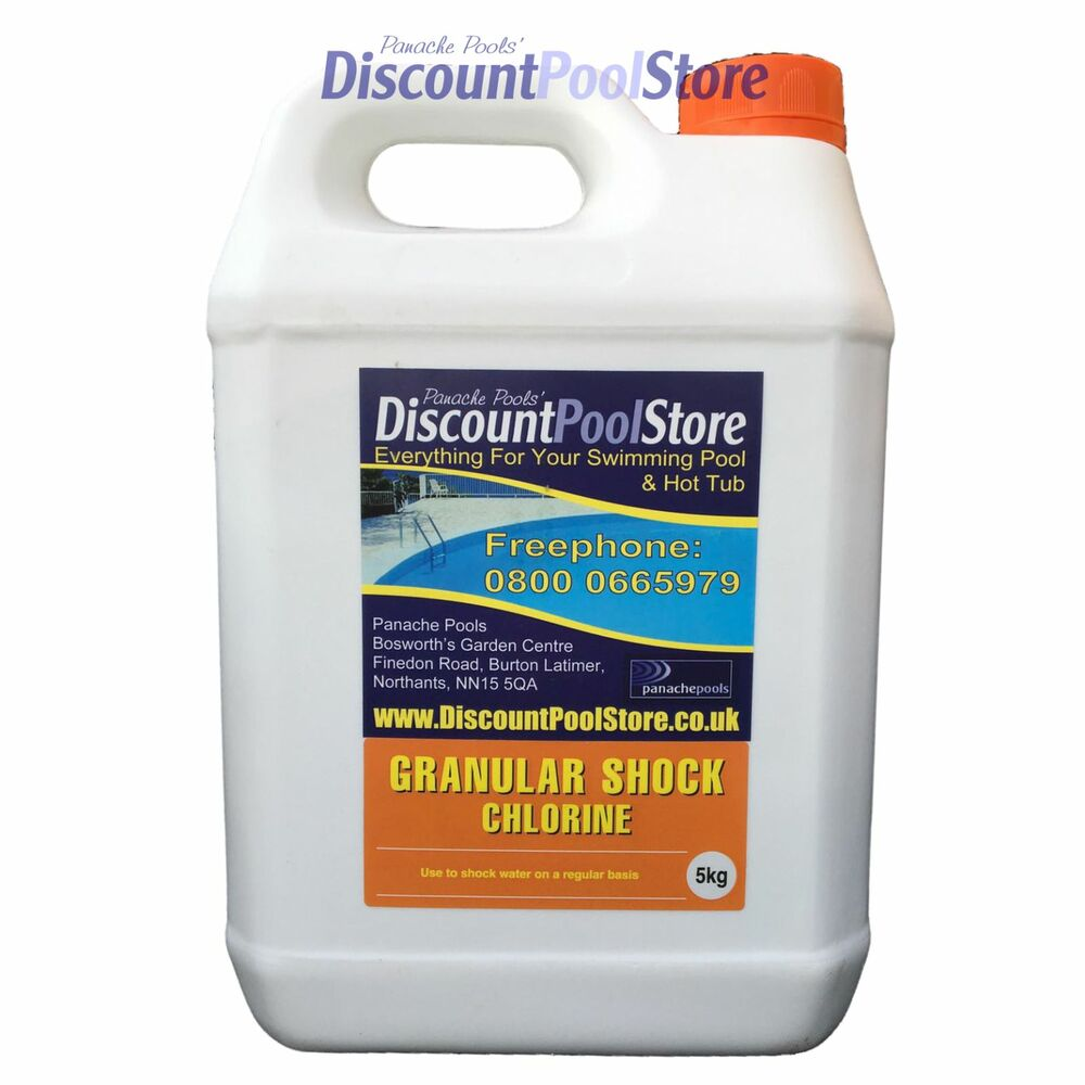 Shock chlorine granules swimming pool spa tub pools 5kg ebay for Chlorination of swimming pools