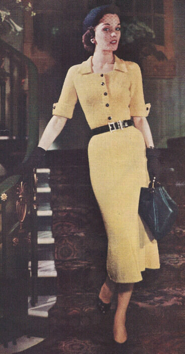 Vintage Knitting Pattern To Make Knitted Dress Straight