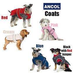 Ancol Padded Luxury Dog Coat All Weather Non Slip Raincoat All Sizes Puppy