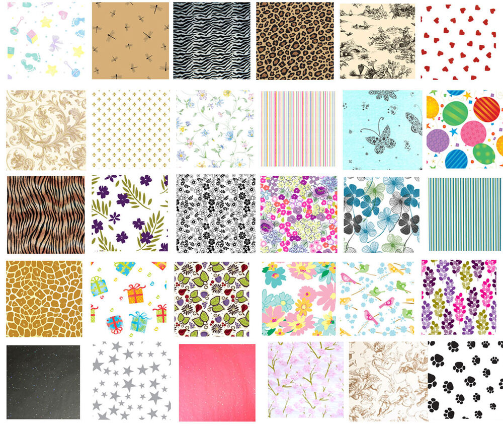 Printed Patterned Tissue Wrapping Paper Luxury 5 Sheets