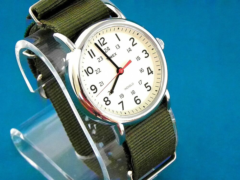 VINTAGE TIMEX MILITARY 60'S STYLE WHITE FACE 24 HOUR DIAL ...