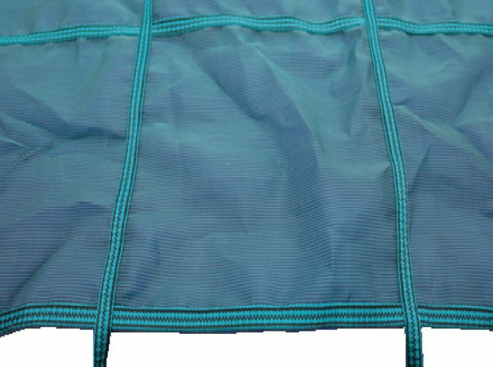 22ft X 12ft Deluxe Criss Cross Winter Debris Cover Fixings For Swimming Pool Ebay