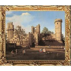 WARWICK CASTLE Dollhouse Miniature Art Picture - MADE IN AMERICA. FAST DELIVERY