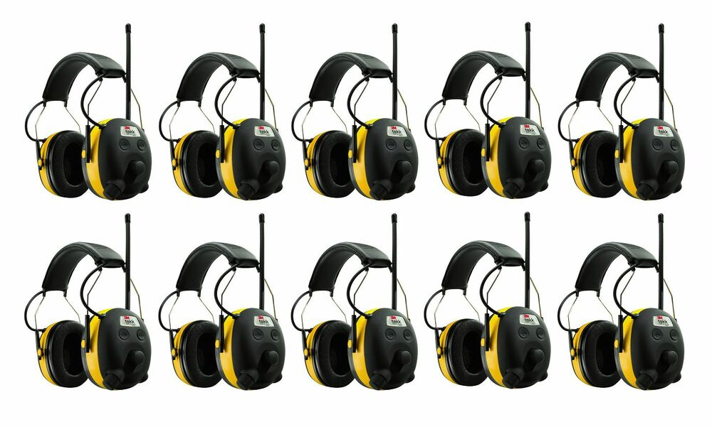 (10) PELTOR WORKTUNES Digital AM FM MP3 Radio HEADPHONES