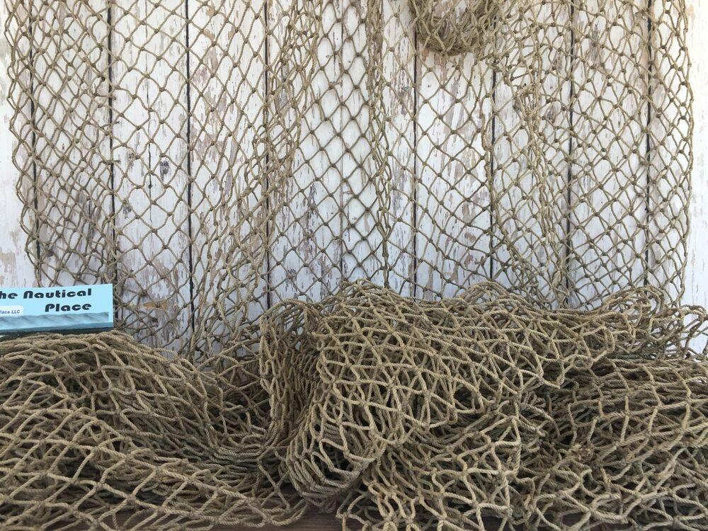 Authentic used fishing net 5 39 x10 39 heavy commercial fish for Cabelas fishing nets