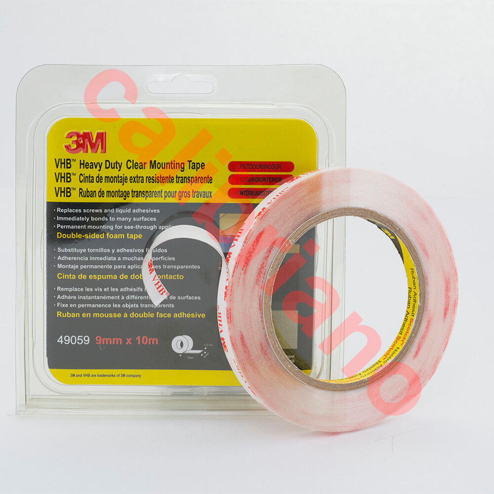 3m vhb heavy duty mounting clear tape 4905 wide 9 mm ebay. Black Bedroom Furniture Sets. Home Design Ideas