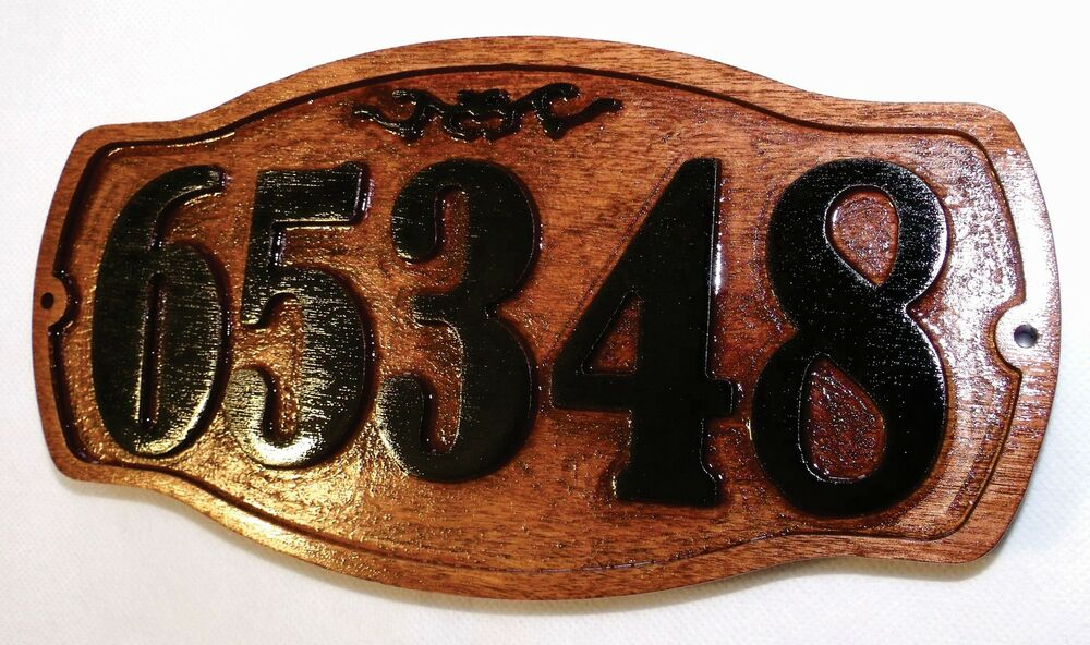 Custom old style house number personalized address plaque for Classic house number plaque