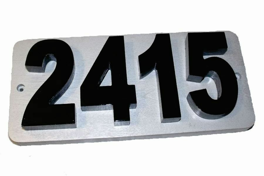 Custom personalized modern house number address plaque for Modern house number plaques