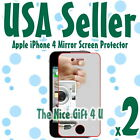 2x USA Fast New Mirror LCD Screen Protector Cover Film for Apple iPhone 4S 4GS