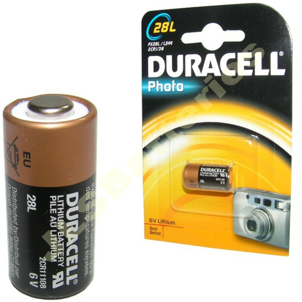 duracell battery iec 2cr11108 lithium 6v 6 volt ebay. Black Bedroom Furniture Sets. Home Design Ideas