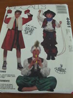 HALLOWEEN COSTUME SEWING PATTERN Sz 2-4 PIRATE COWBOY SNAKE CHARMER BOXER