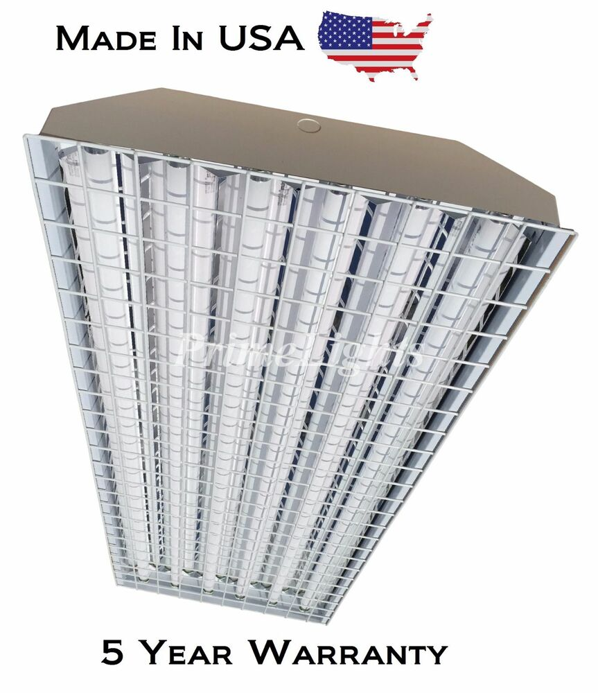 4 Bulb Lamp T8 Led High Bay Warehouse Shop Garage: 6 Lamp T8 HighBay Fluorescent Light Fixture * WITH
