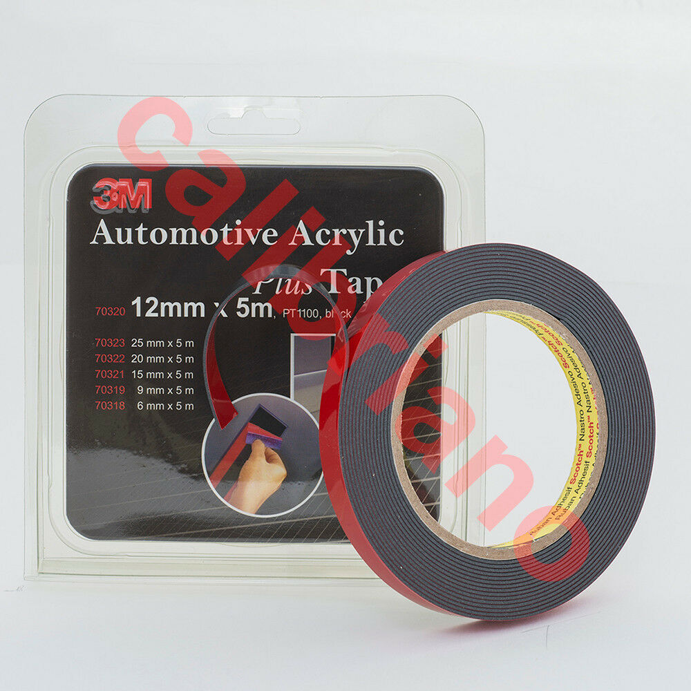 3m automotive acrylic plus double sided attachment tape 1 2 in ebay. Black Bedroom Furniture Sets. Home Design Ideas