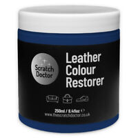 DARK BLUE Leather Dye Colour Restorer for Faded and Worn Leather Sofa etc.