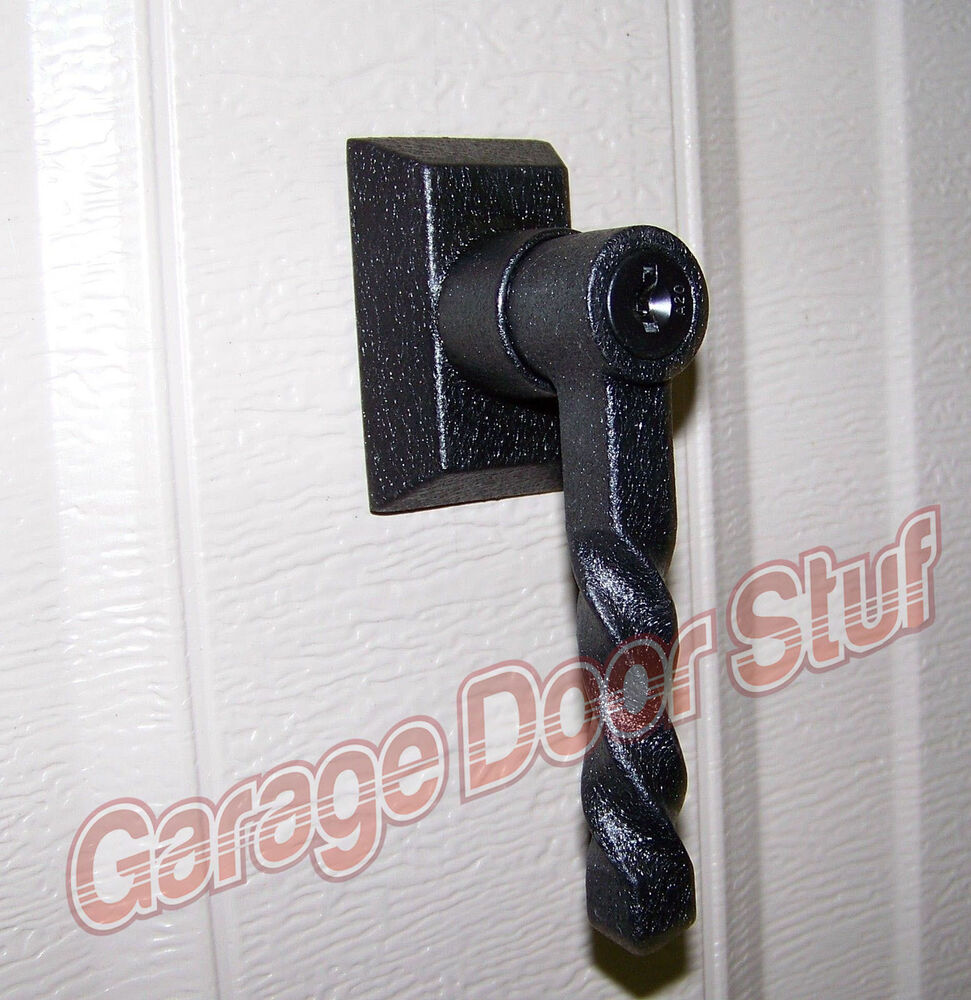 Garage Door Lock Handle Assembly Wrought Iron Fully