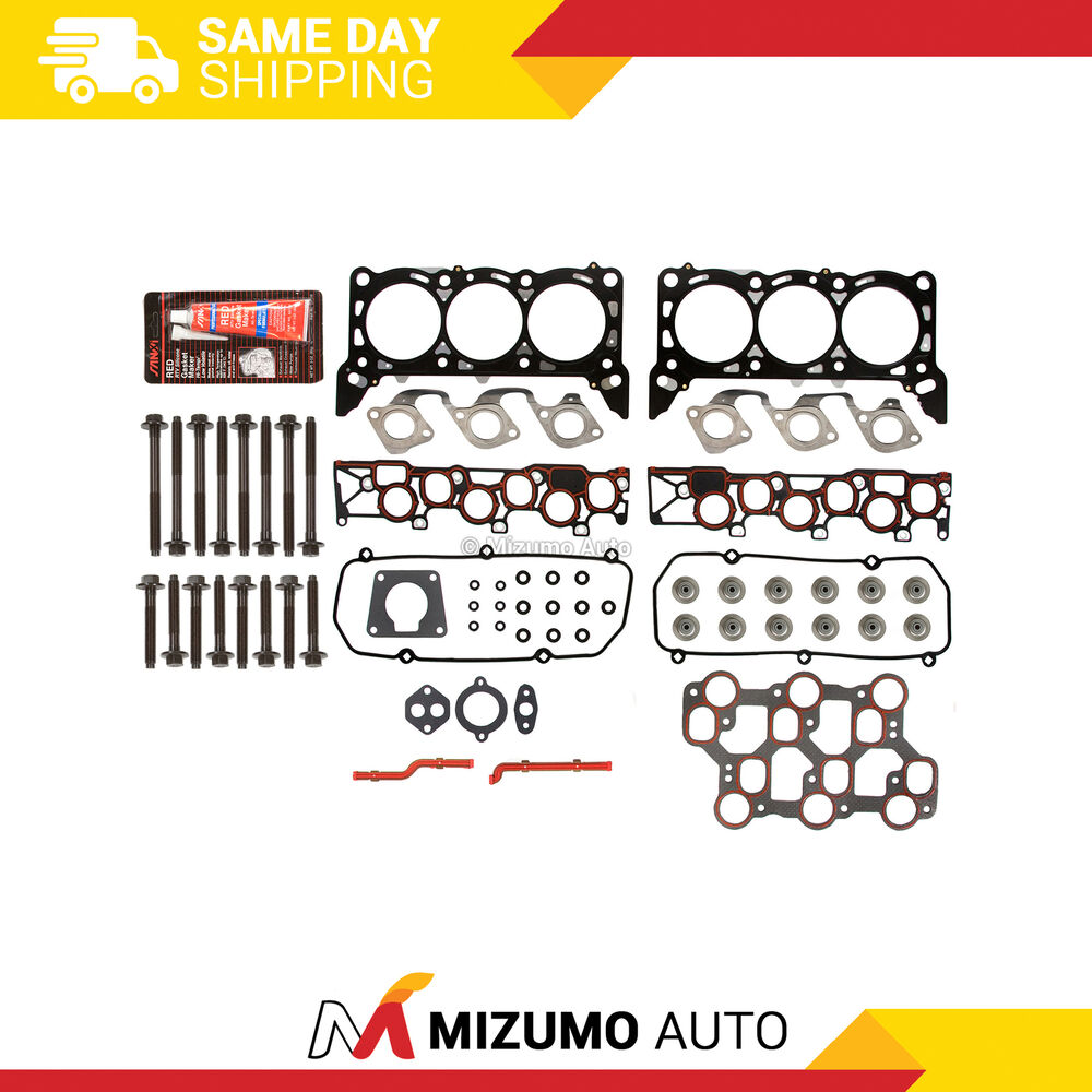 Ford F 150 2000 Cylinder Head Gasket: Head Gasket Bolts Set Fit 01/15/1998-04 Ford Mustang F150