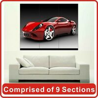 Red Sport Car Wall Art Poster Print New