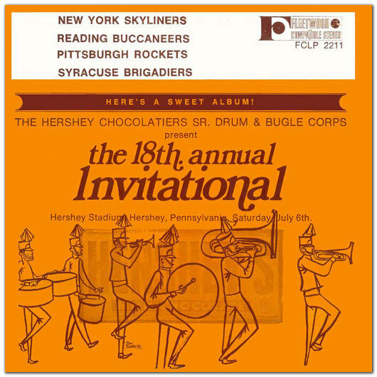 1968 Hershey Invitational Drum Corps CD Skyliners, Syracuse, Reading, Rockets : eBay
