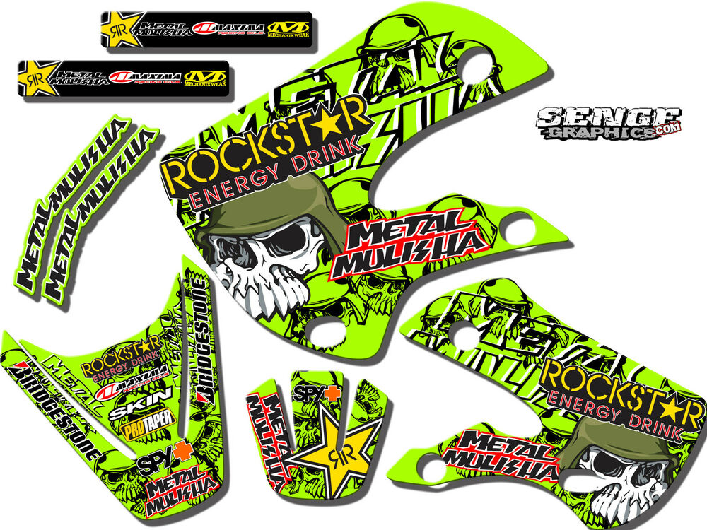 Kdx50 graphics kit kdx 50 kawasaki decals deco stickers for Sticker deco