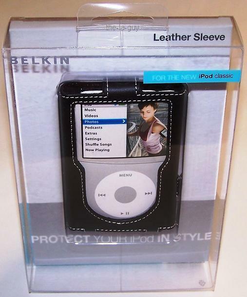 belkin leather case for ipod classic 5g 6g 7g 80gb 120gb. Black Bedroom Furniture Sets. Home Design Ideas