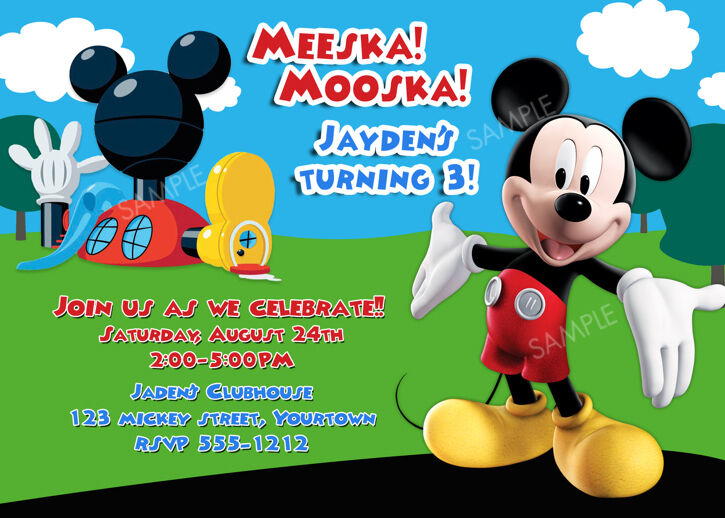 Mickey Mouse Clubhouse Invites Birthday Invites New Collection Mickey Mouse  Clubhouse. Mickey Mouse Clubhouse Invites ...