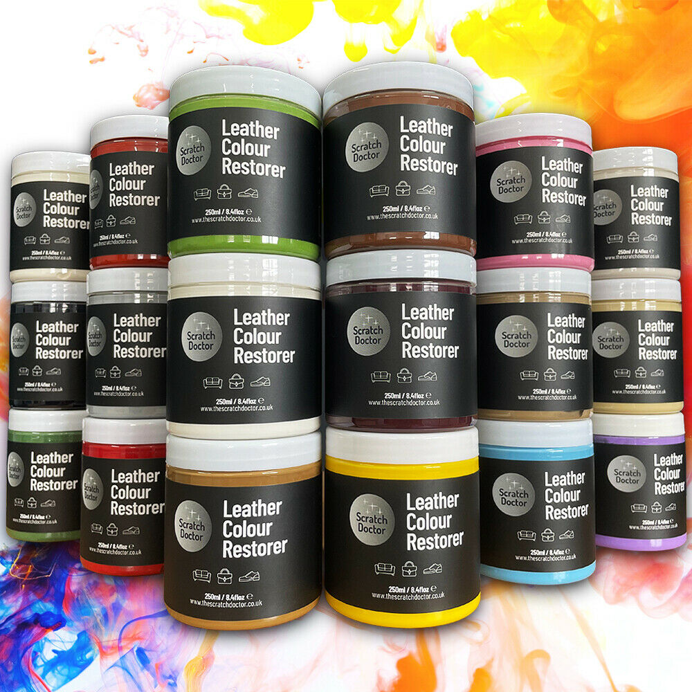 leather dye colour restorer for faded and worn leather sofa chair colour repair ebay. Black Bedroom Furniture Sets. Home Design Ideas