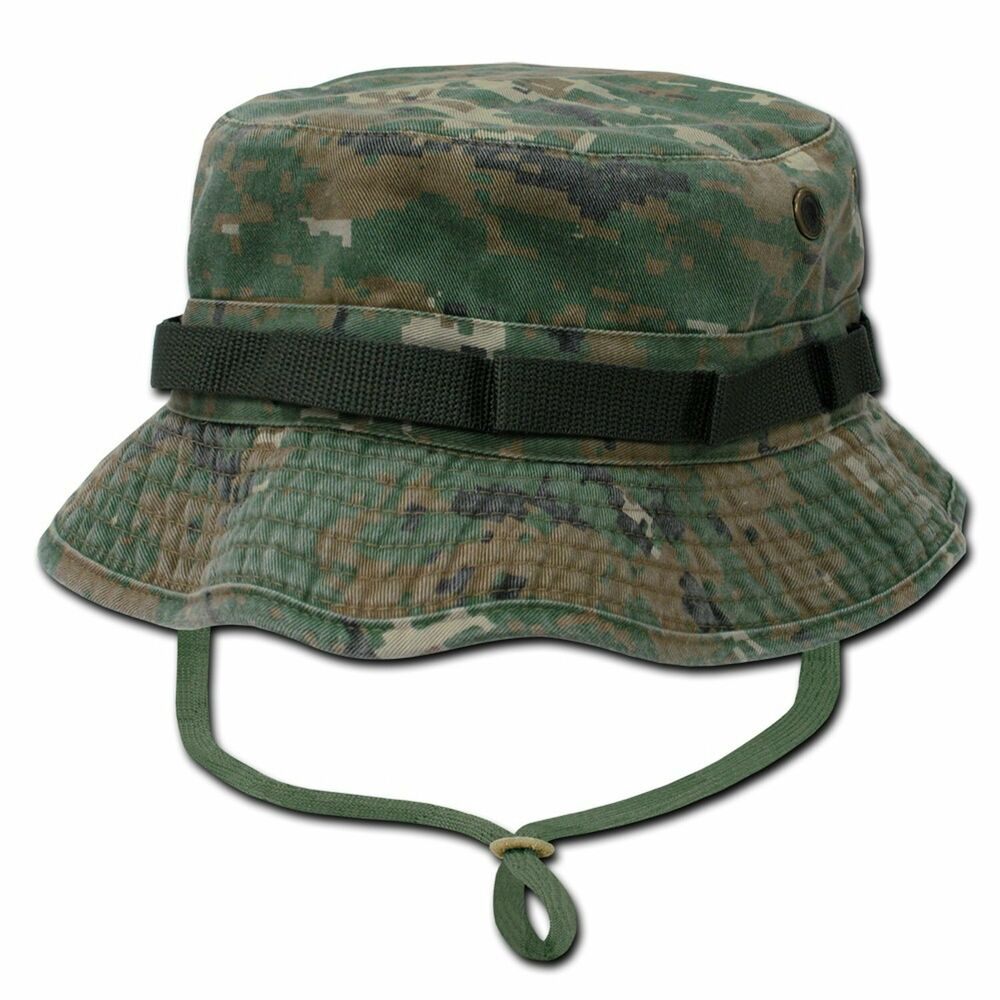Camouflage military boonie hunting army fishing bucket for Fishing bucket hat