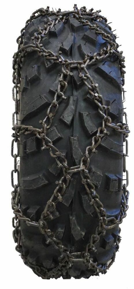 Atv Tire Chains : Atv diamond patrn tire chain