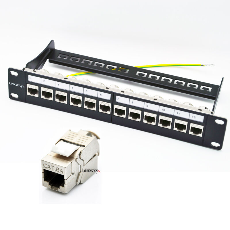 Schema Cablaggio Patch Panel : Port cat a patch panel loaded with shielded