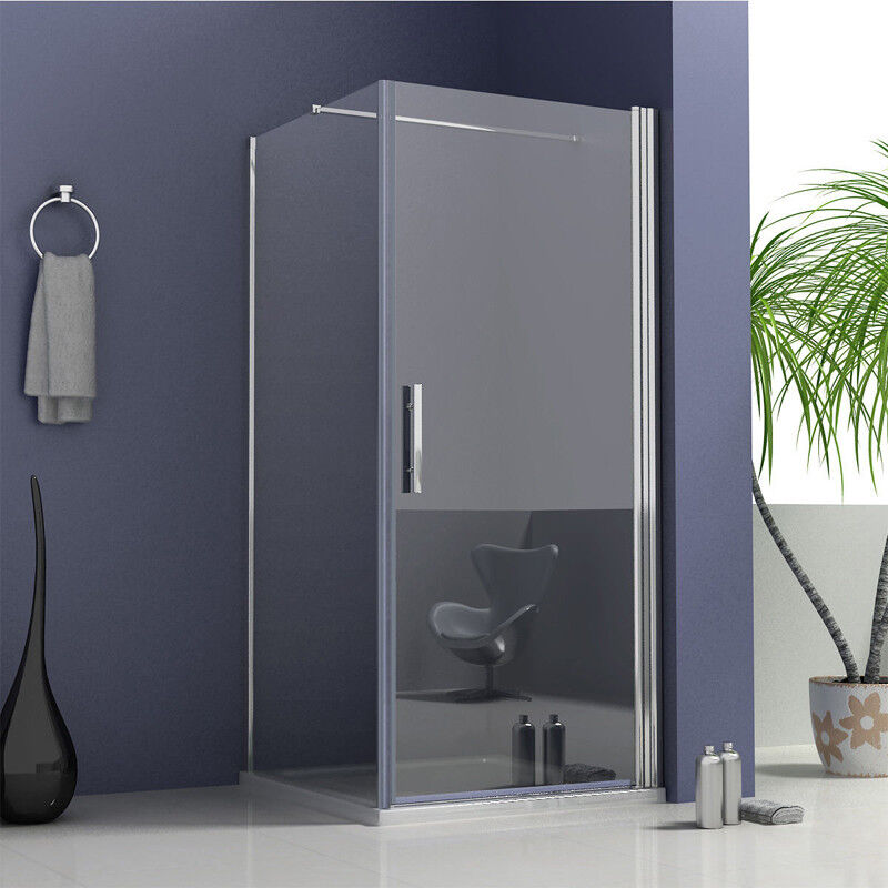 frameless pivot hinge shower enclosure glass cubicle door side panel stone tray ebay. Black Bedroom Furniture Sets. Home Design Ideas