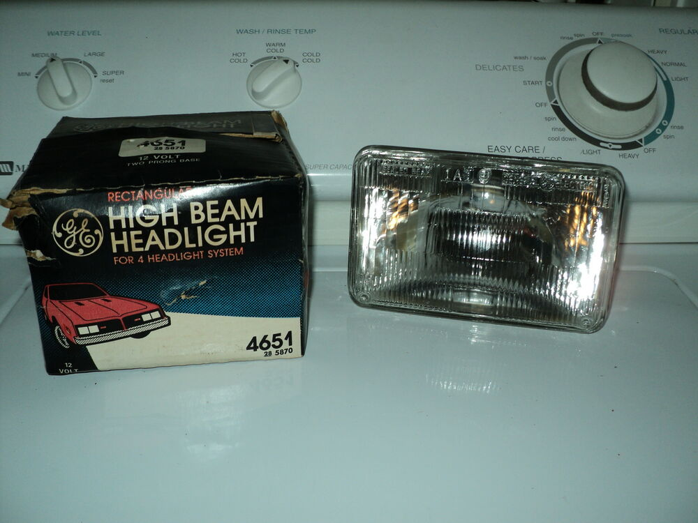 Headlamp 12v Ge High Beam New 4651 Headlight Ebay