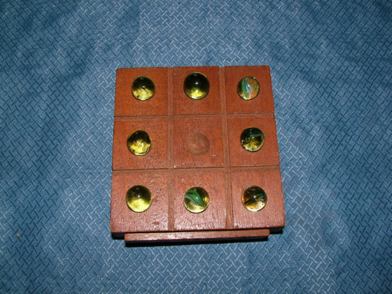 VINTAGE TOY HANDCRAFTED ? MARBLES TIC TAC TO GAME | eBay