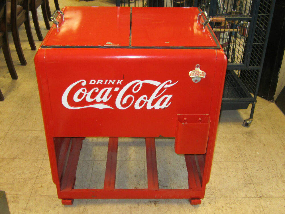 Vintage coca cola cooler drink coca cola ebay for 1 door retro coke cooler