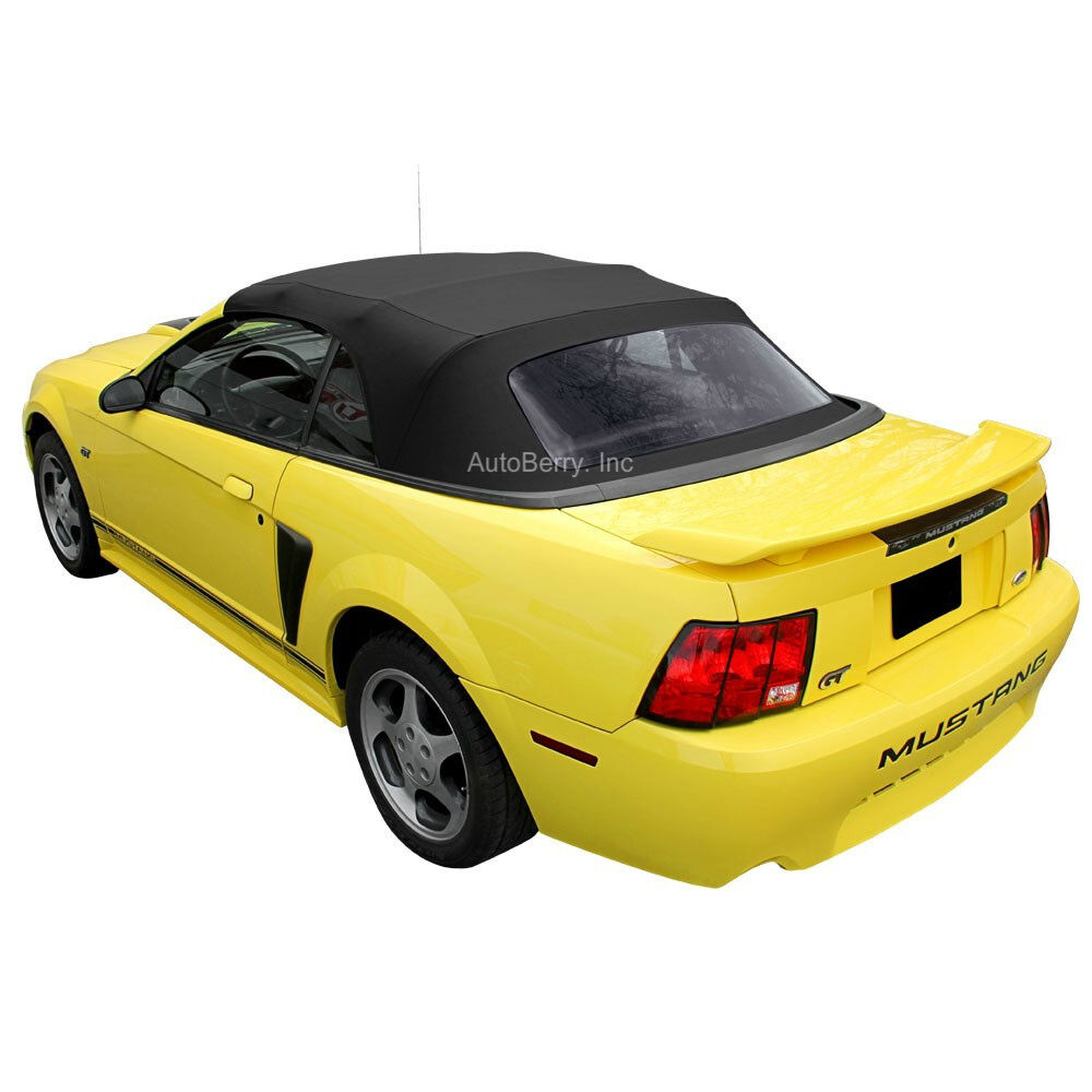 Sunroof Glass Replacement >> Ford Mustang Convertible Top Replacement & Plastic Window 1994-2004 Black | eBay