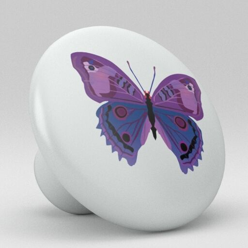 Butterfly Ceramic Knobs Pulls Kitchen Bathroom Closet