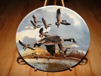 WINGS UPON THE WIND The Landing Canada Goose Plate