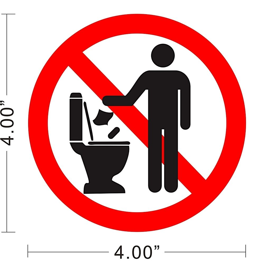 Restroom Toilet Caution Notice Warning Store Rules Cleaning Sign ...