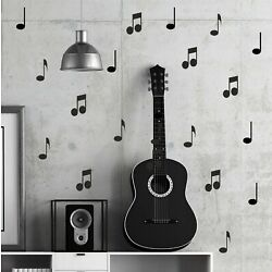20 x Musical Notes Wall Sticker Decal Kids Office Piano Vinyl School